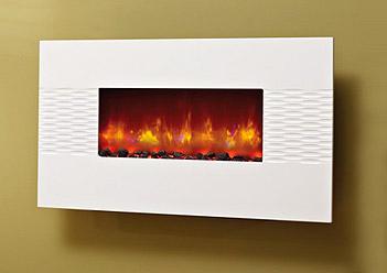 chemin e lectrique murale design et effet de flammes. Black Bedroom Furniture Sets. Home Design Ideas